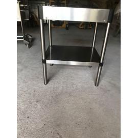 TABLE INOX - 63 x 50 x 80 cm
