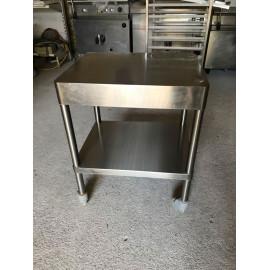 TABLE INOX 63 x 50 cm