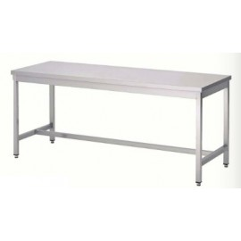TABLE INOX 100 x 80 cm