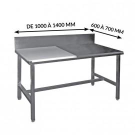 TABLES DE DÉCOUPE MIXTES CÔTE À CÔTE ADOSSÉES