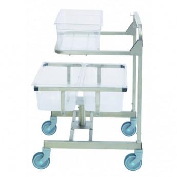 Chariot Ergo Mobile inox relevant 3 bacs