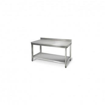 Table droite inox avec dosseret