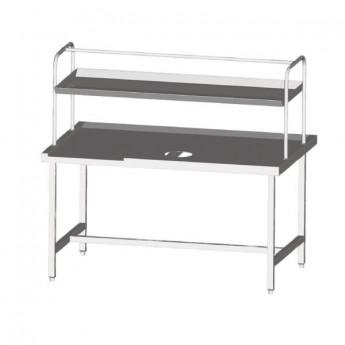 Table centrale pour lave-vaisselle à capot