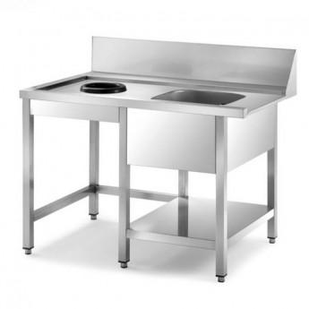 Table de pré-lavage pour lave-vaisselle à capot et tunnel de lavage