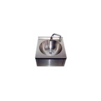 Lave-mains inox cuve ronde sans dosseret