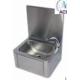 Lave-mains inox à commande fémorale - Robinet électrique