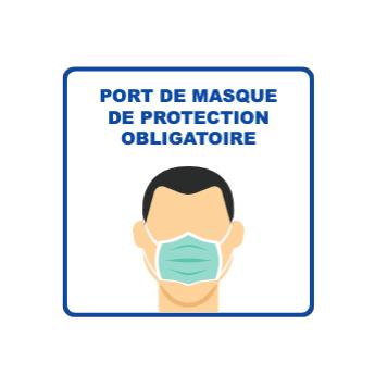 Panneau d'informations - Visuel masque Panneau Simple (Petit format)
