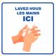 Panneau d'informations - Visuel Lavage Mains - Panneau Perforé (grand format)