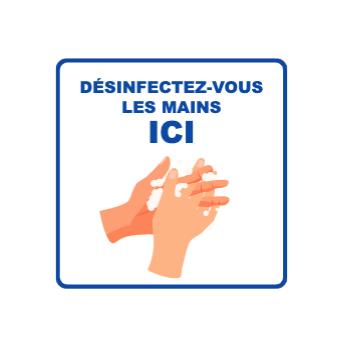 Panneau d'informations - Visuel Désinfection Panneau Simple (Grand format)
