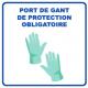 Panneau d'informations - Visuel Gants Panneau Simple (Grand format)